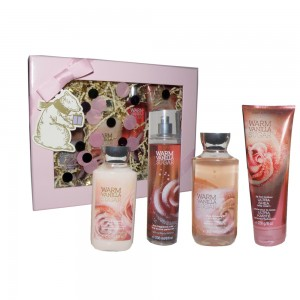 Bath And Body Works Body Mist Warm Vanilla Sugar 236ML+Duş Jeli 295ML+Body Lotion 236ML+Body Cream 226ML
