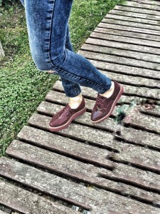 Bordo Kroko Oxford
