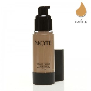 Note Detox Protect Fondöten Spf15 Dark Honey 06 35ML