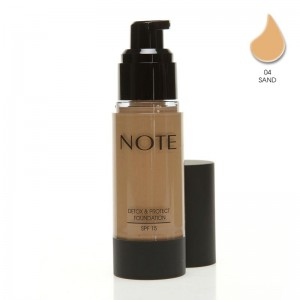 Note Detox Protect Fondöten Spf15 Sand 04 35ML