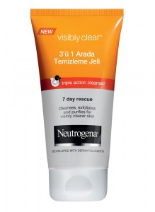 Neutrogena Visible Clean 3In1 Yuz Temizleme Jeli 100ML