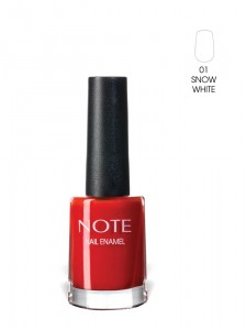 Note Nail Enamel Oje 01 Snow White 9ML