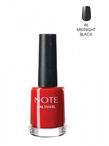 Note Nail Enamel Oje 46 Midnight Black 9ML